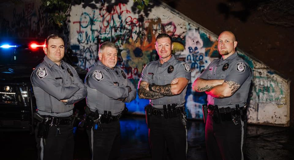 elk city police department - PTL. Lowry, SGT. Chaney, LT. George and CPL. Meyer